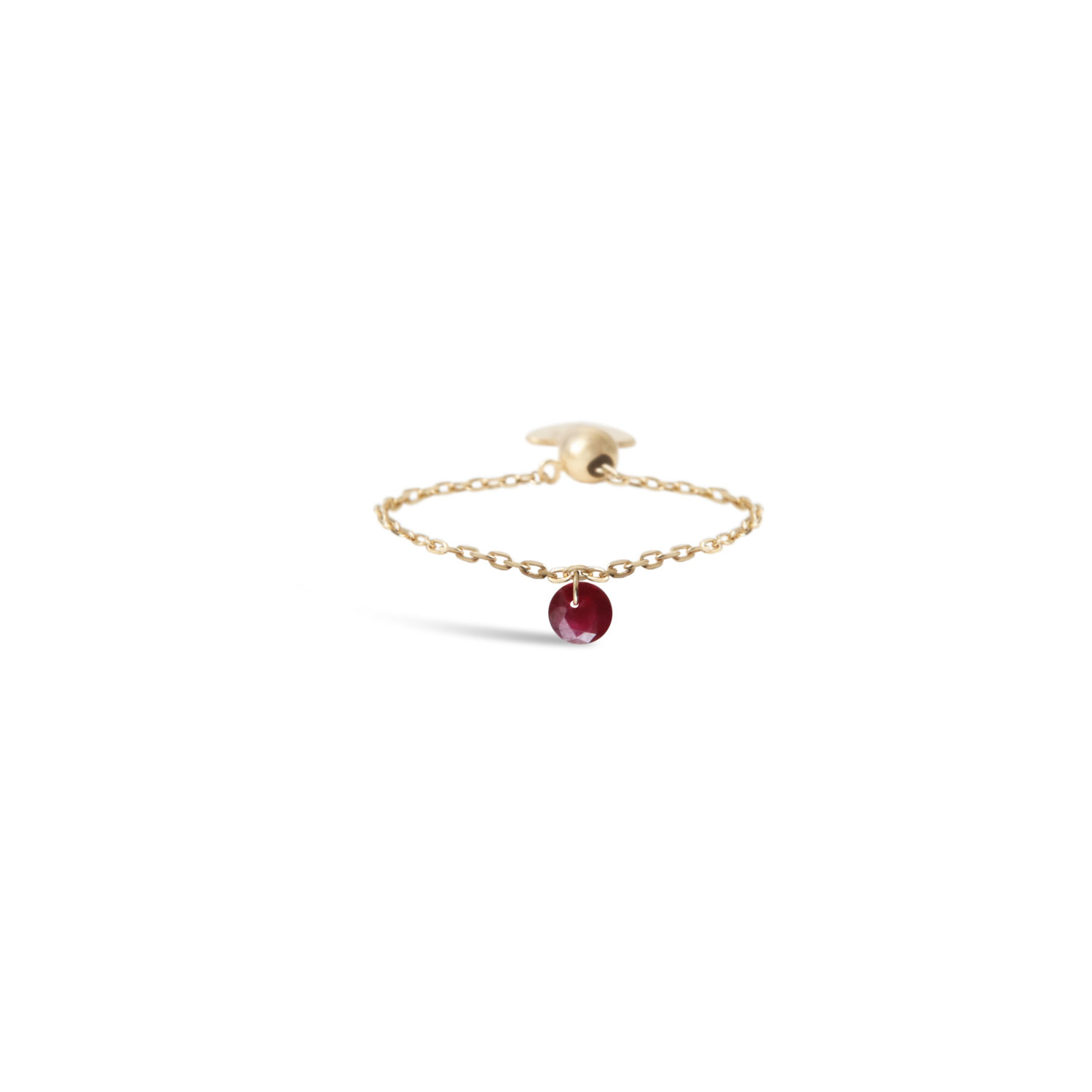 BAGUE CHAINETTE 1 RUBIS PERSEE