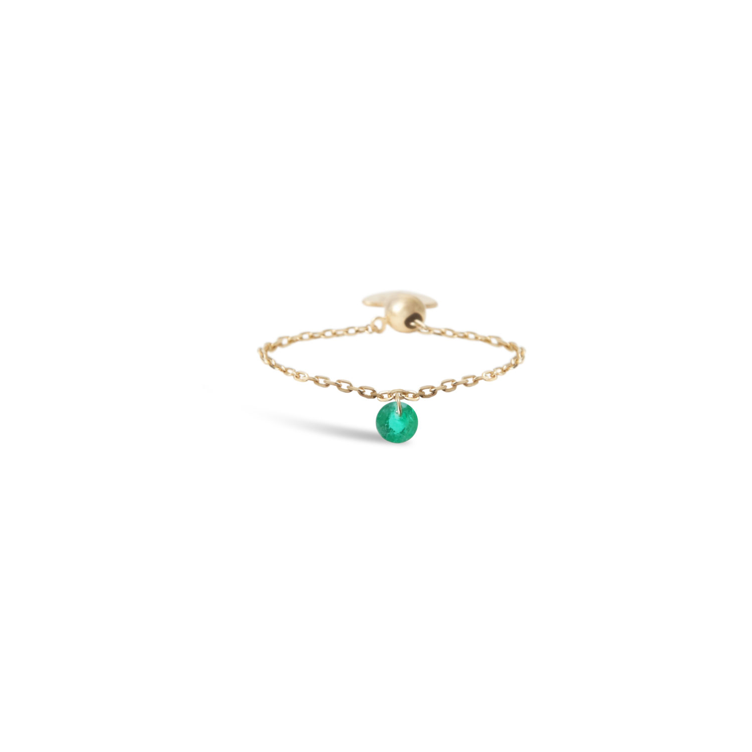 BAGUE CHAINETTE 1 EMERAUDE PERSEE