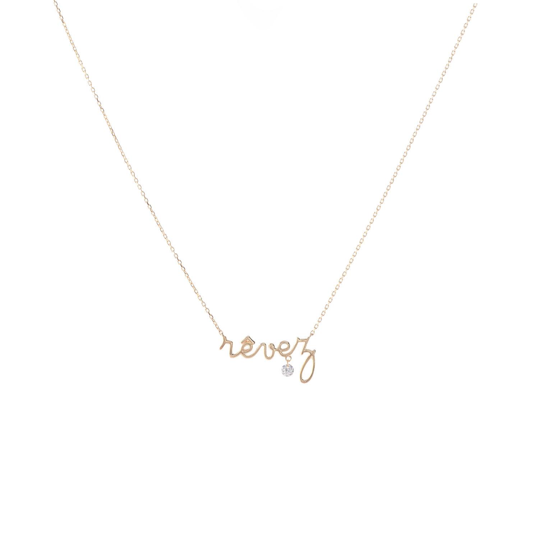 Collier Revez et diamant suspendu x Persée