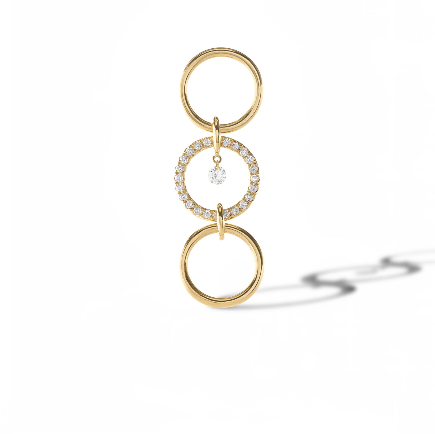 BOUCLE D'OREILLE PADAM DIAMANTS PERSEE
