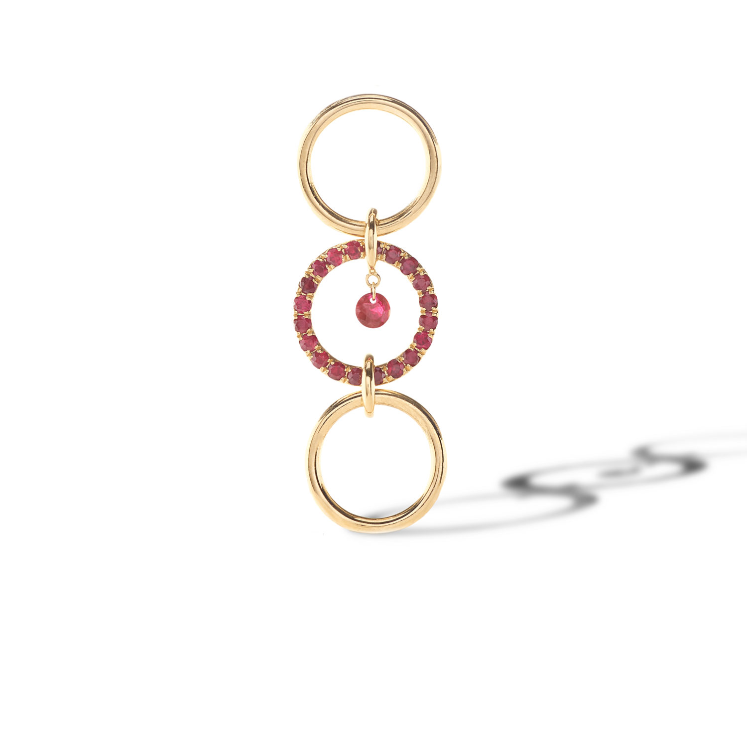 BOUCLE D'OREILLE PADAM RUBIS PERSEE