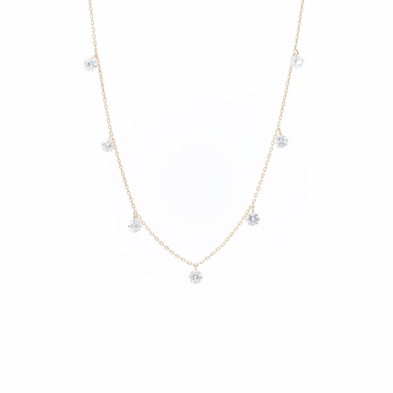 Collier Danaé 7 diamants suspendus x Persée