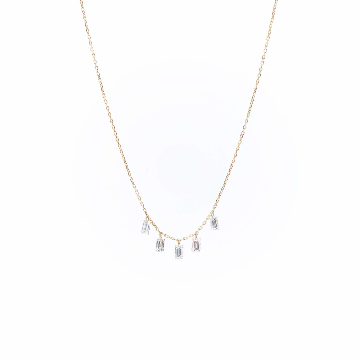 Collier Danaé 5 diamants baguette xPersée