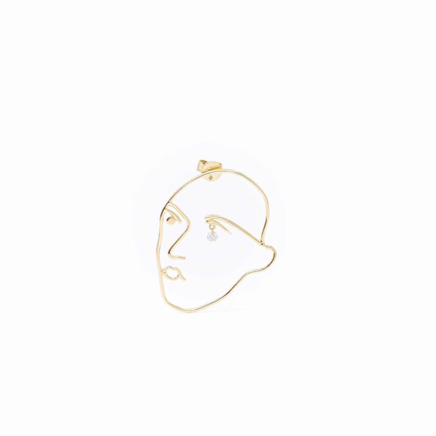 BOUCLE D'OREILLE MATISSE 1 diamant PERSEE