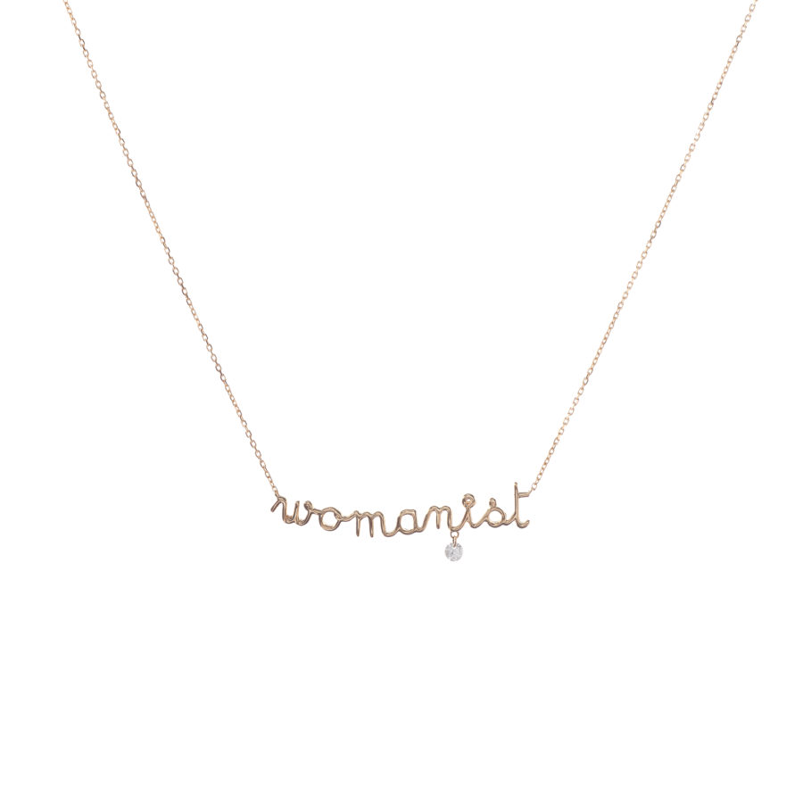 Collier womanist et diamant Persée