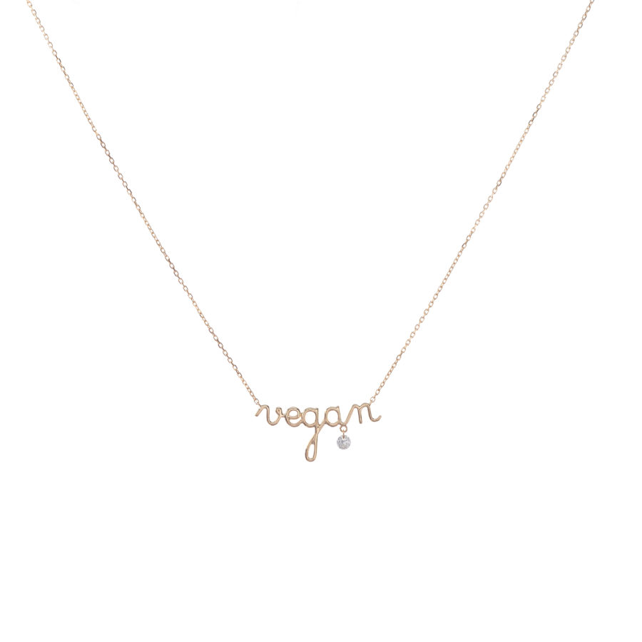collier VEGAN et diamant PERSEE