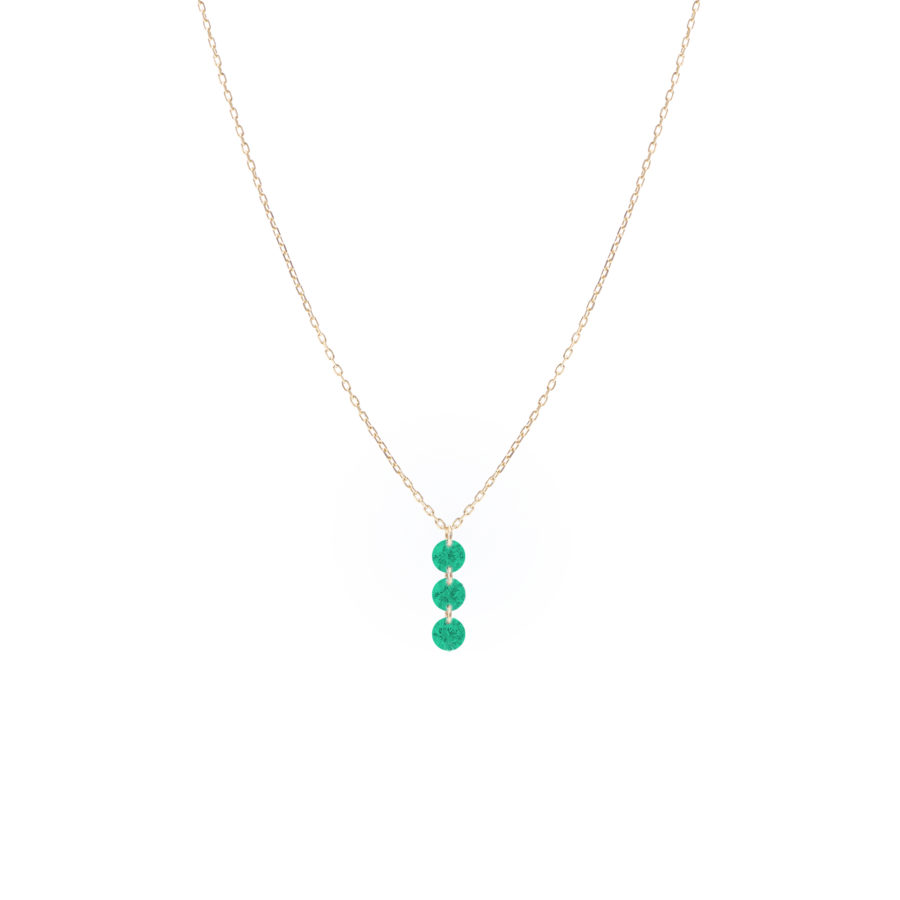 collier 3 emeraudes persee