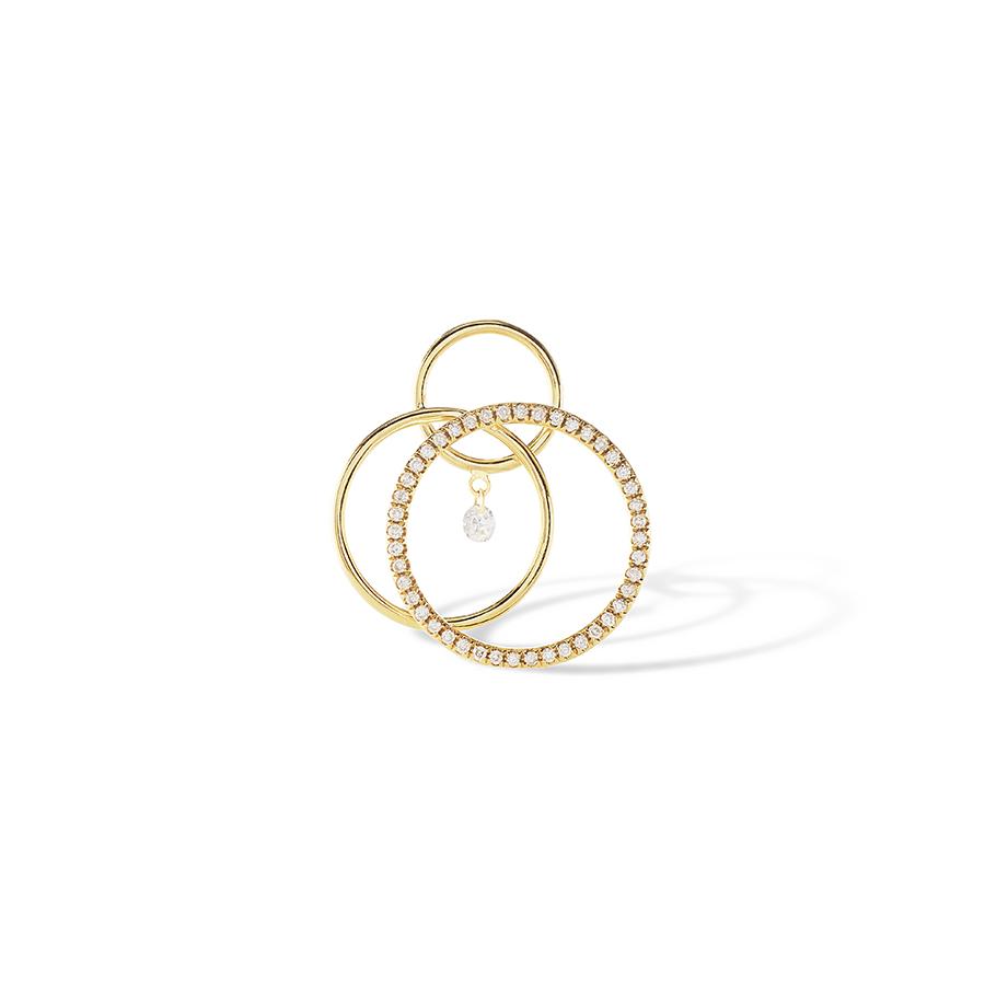 Boucle d'oreille Tourbillon diamants Persée