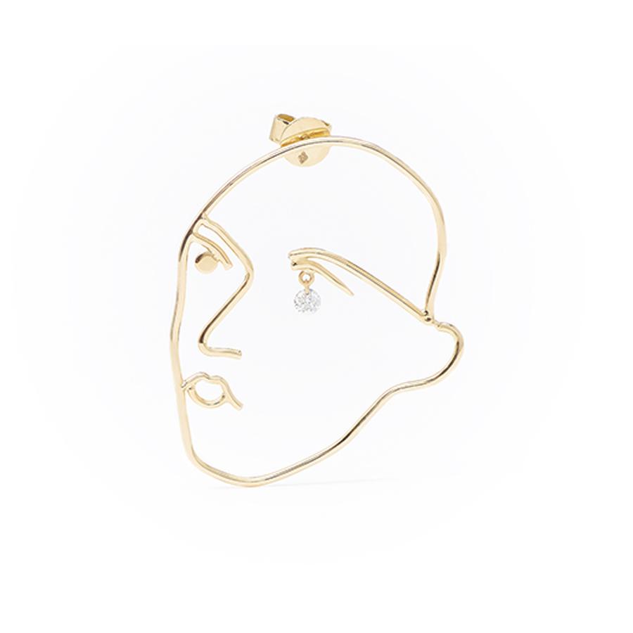 Boucle d'oreille Persée Face Matisse