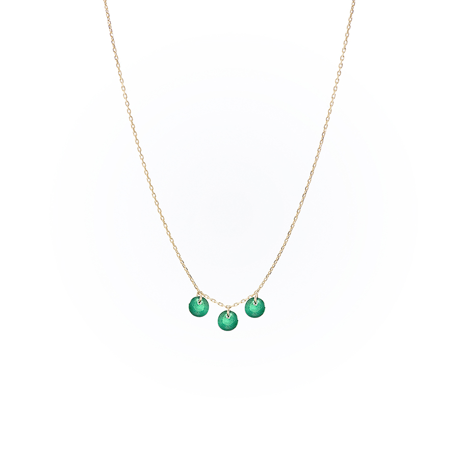 collier dancing green Persee
