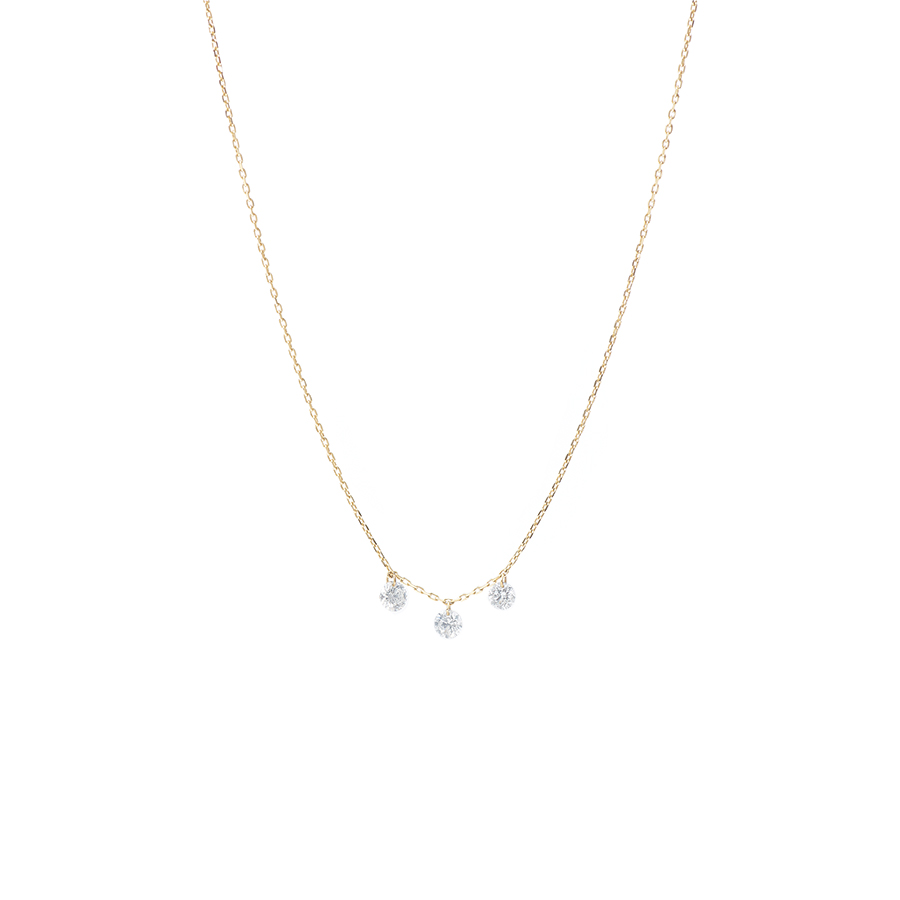 COLLIER DANAE 3 DIAMANTS PERSÉES X PERSEE PARIS