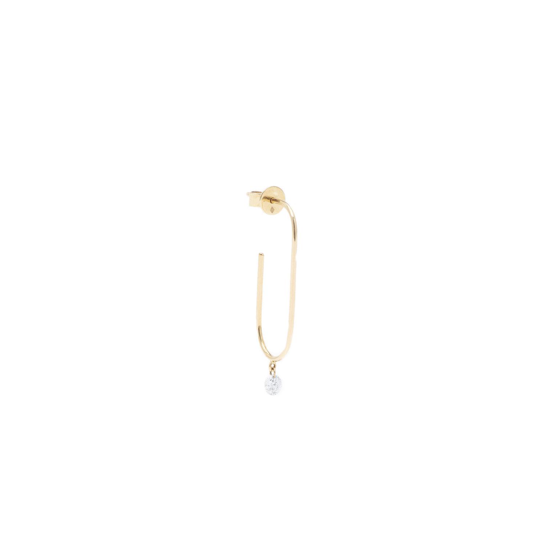 Boucle d'oreille trombone Persée Paris