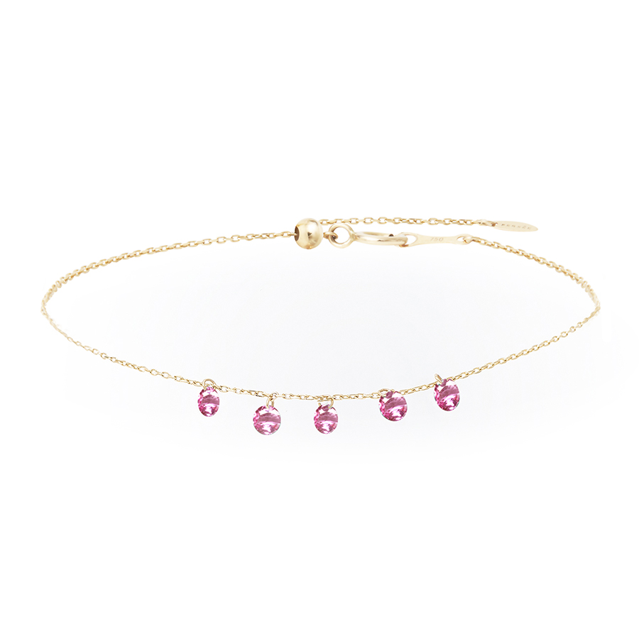 bracelet la vie en rose 5 saphirs Persée