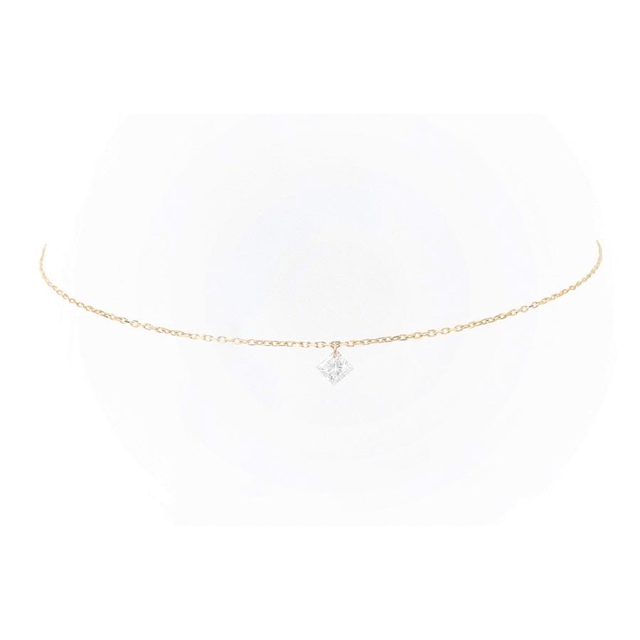 Bracelet Danaé diamant suspendu et or 18 carats - Persée Paris
