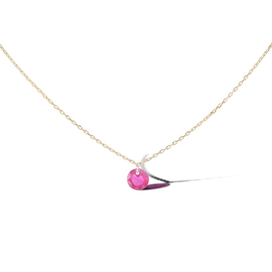 Collier Chakras or 18 carats et Rubis Persée Paris
