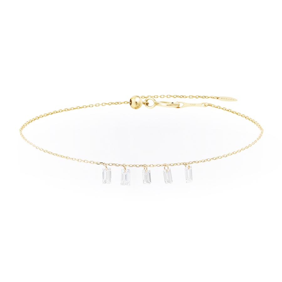 Bracelet Danaé 5 diamants suspendus Persée Paris