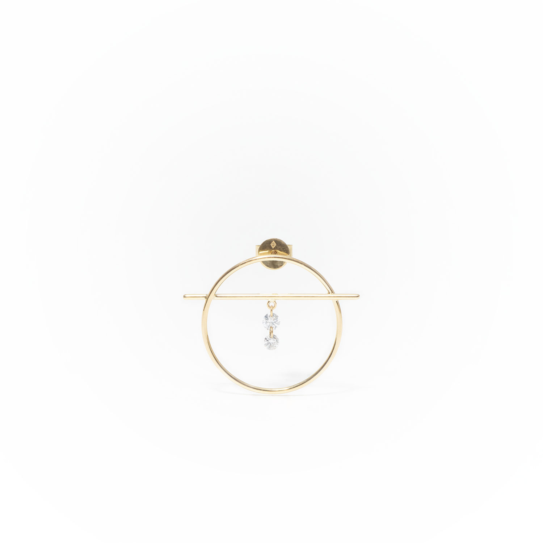 Fibule XS 2 diamants Persée Paris