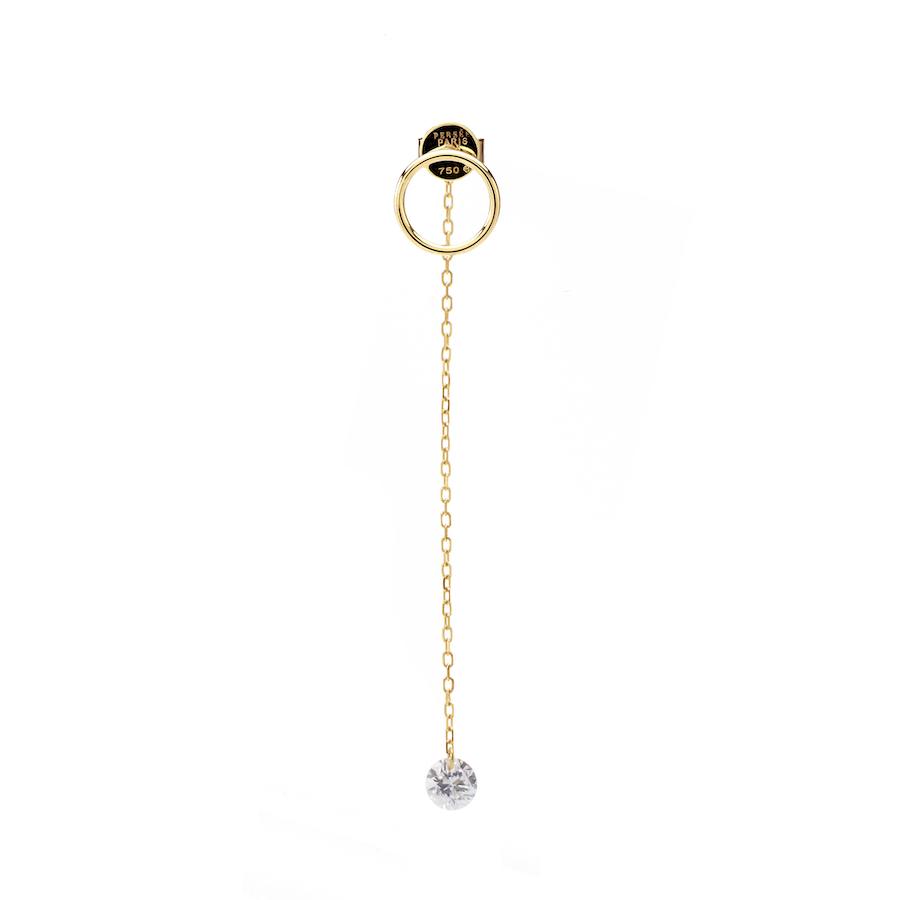 Boucle d'oreille or 18carat diamant