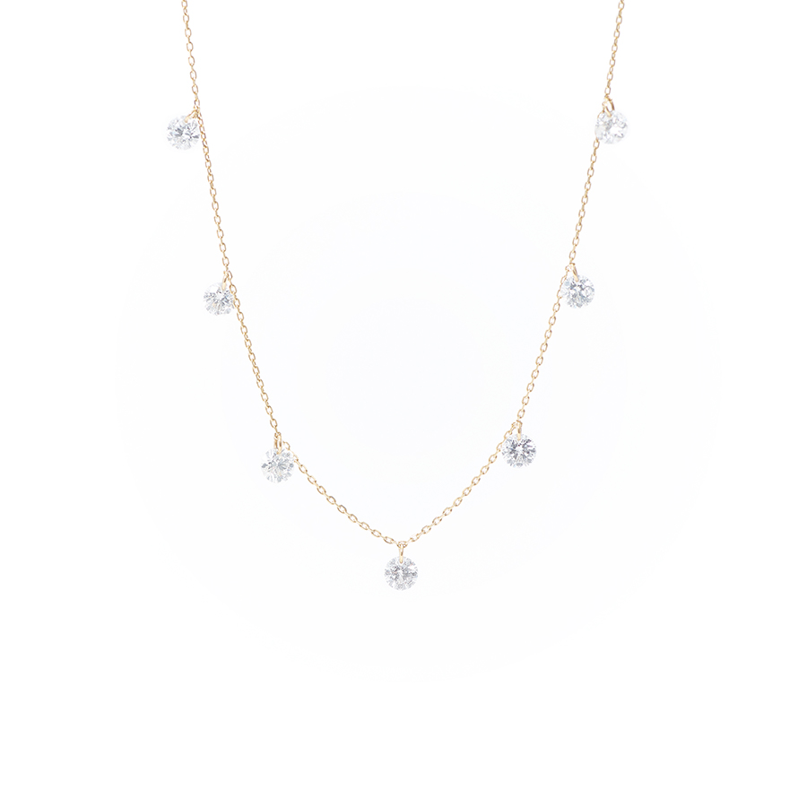Collier Danaé 7 diamants suspendus x Persée