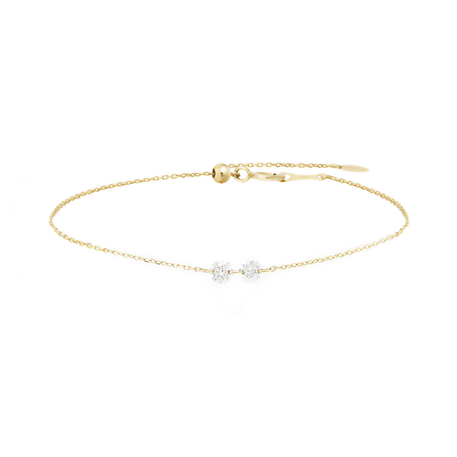Bracelet Danaé 2 diamants ronds Persée